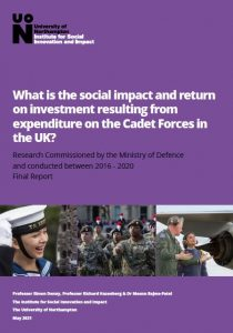 Cover of University of Northampton Cadets report 2020