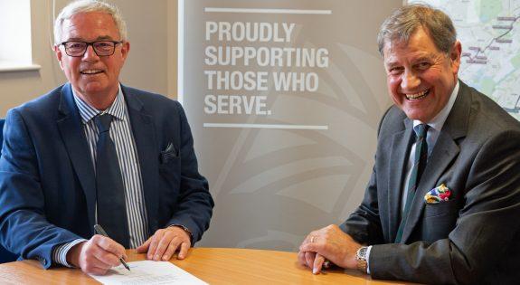 Paul Robinson, NET and Bruce Spencer, East Midlands RFCA
