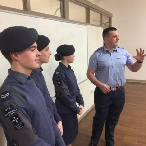 cadets during training session