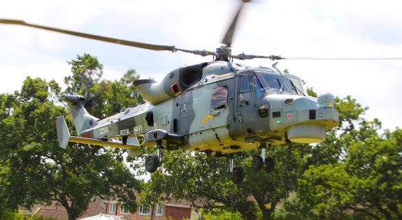 Royal Navy helicopter landing