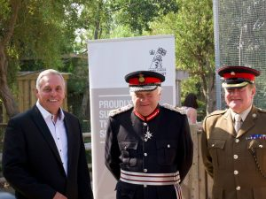 Representatives from Lincolnshire Wildlife Park and the military at the Armed Forces Covenant signing